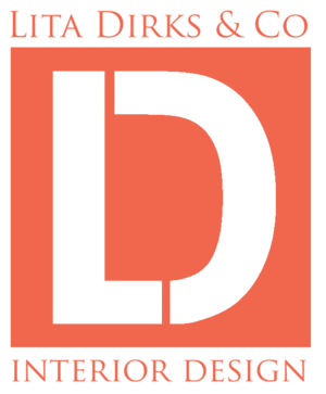 Large Lita Dirks & Co. Interior Design orange logo