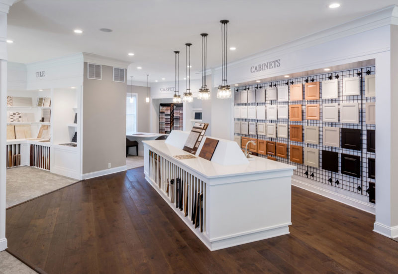 Design center showcasing options for flooring, cabinets and tile in Delaware
