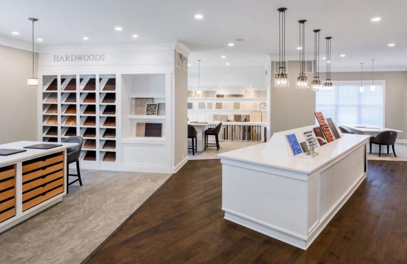 Design center showcasing design and merchandising options for flooring and tile in Delaware.