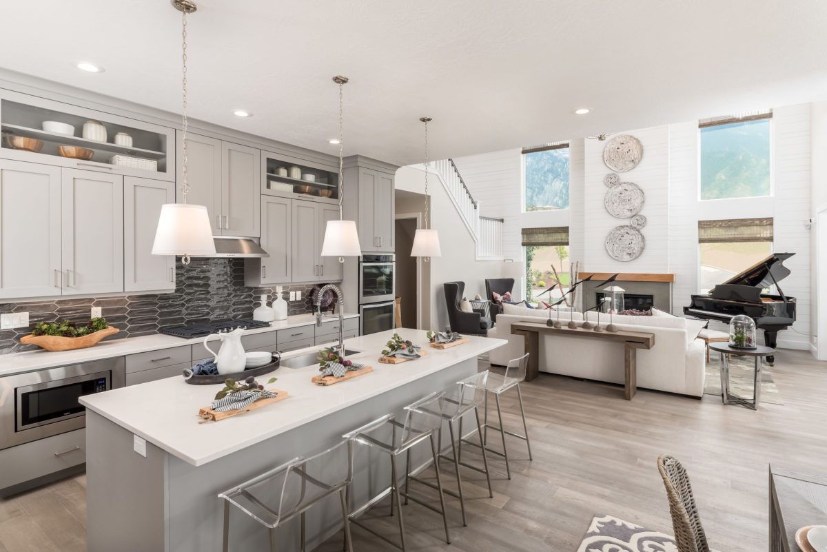 Model home designed to sell.