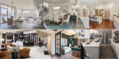 Six photos of Lita Dirks & Co. interior design work.