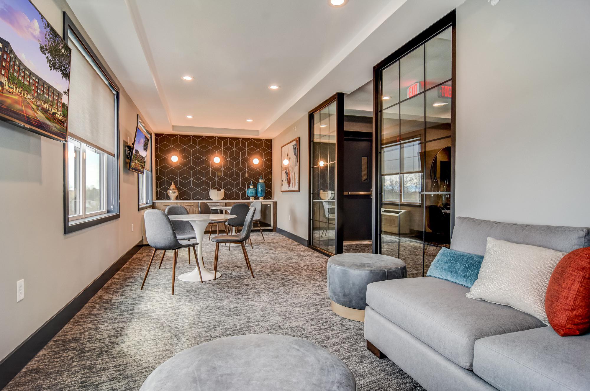 Multifamily lounge area