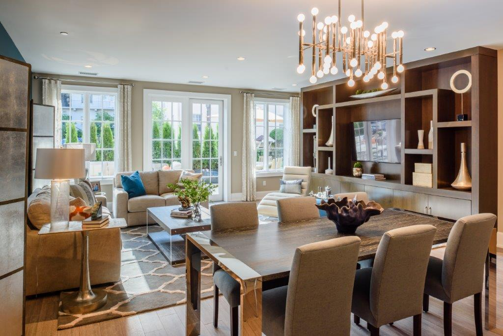 Luxury multifamily residence_great room in NY.