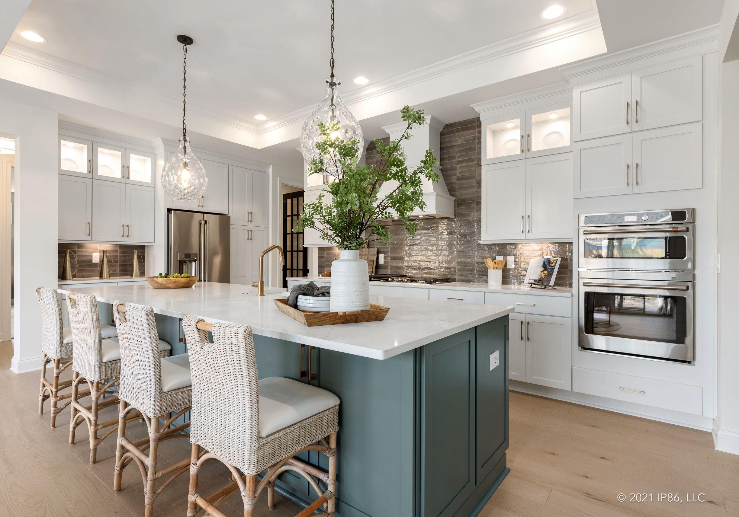 Open floor plan bright kitchen promotes dreams of a joyful lifestyle.